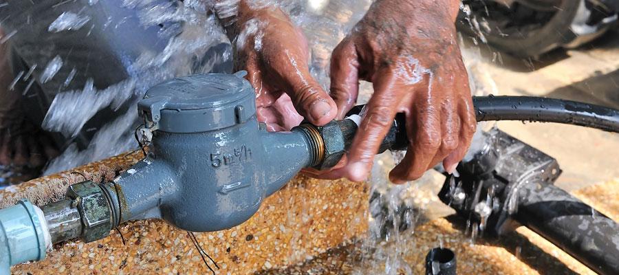 Détection d'une fuite d'eau